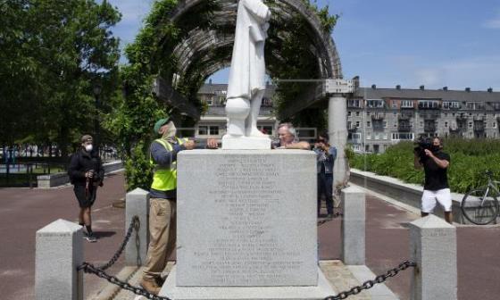 La estatua de Colón