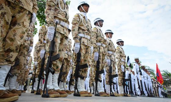 En imágenes | El Desfile Militar del 20 de julio se toma el Museo del Caribe