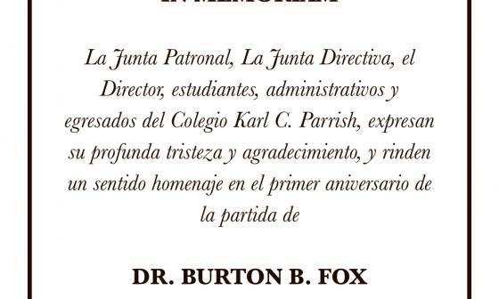 Dr. Burton B. Fox