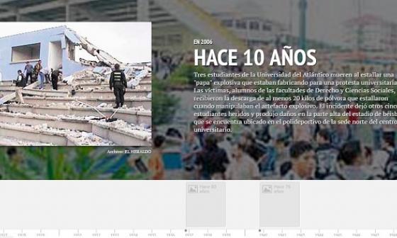 Reviva los hechos que fueron noticia un día como hoy en Barranquilla