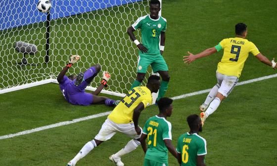 Así fue el gol de Yerry Mina que envió a Colombia a octavos de final