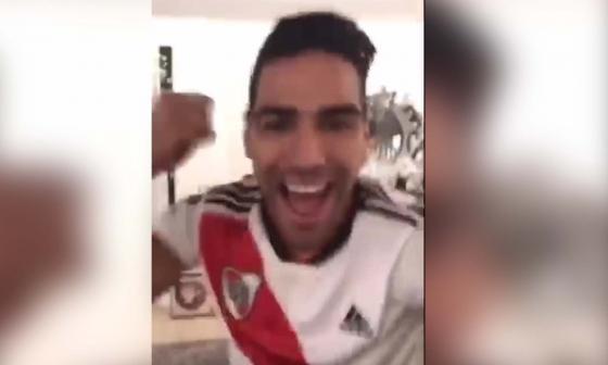 Así celebró Falcao el titulo de River en la Libertadores