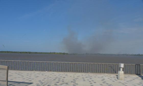 Nuevas quemas del otro lado del río Magdalena