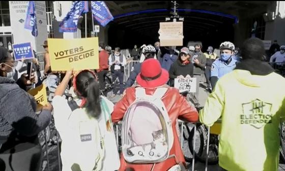 Manifestantes exigen el escrutinio de todos los votos en Pensilvania