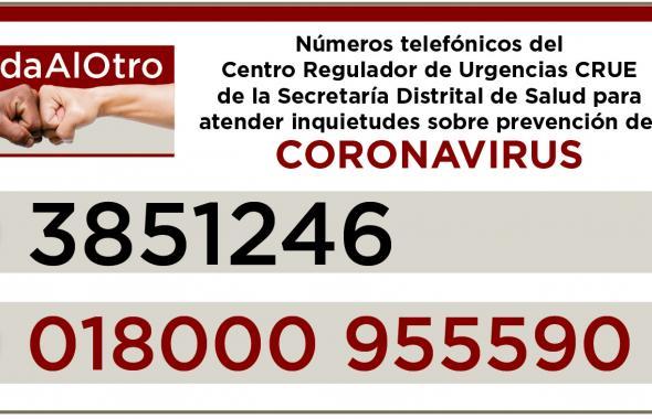 Tenga en cuenta estos teléfonos ante dudas sobre coronavirus