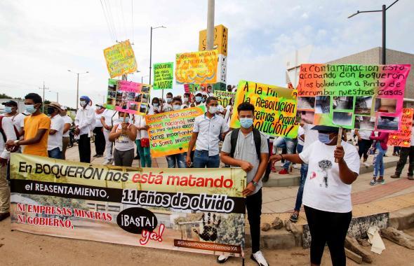 Trabajadores piden reactivación de actividad minera en Cesar