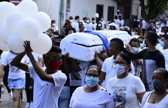 Así despiden a niño asesinado en un ataque sicarial en La Sierrita
