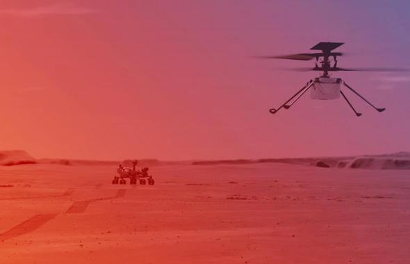 Nasa muestra cómo será el vuelo de helicóptero Ingenuity en Marte