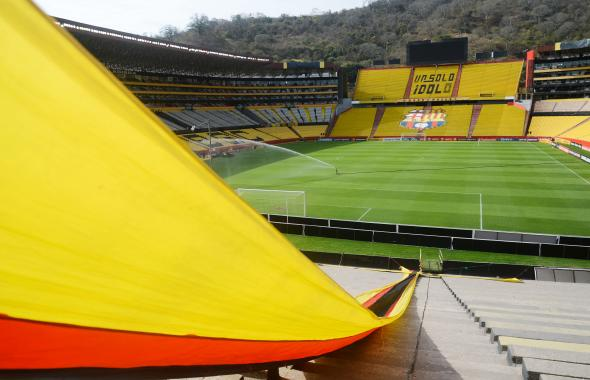 El estadio del Barcelona de Ecuador acogerá el partido Junior vs. Fluminense