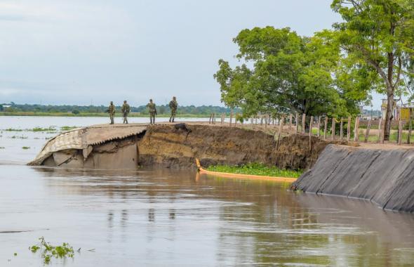 Así se evidencia la erosión en Salamina