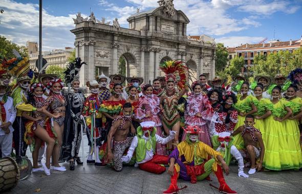 En imágenes   El Carnaval de Barranquilla se apodera de Madrid