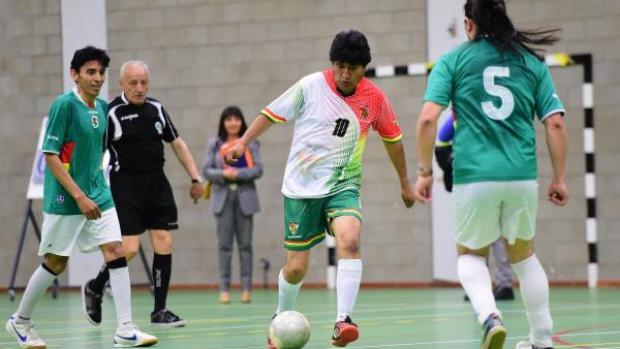 Evo Morales, presidente de Bolivia, es apasionado por el fútbol.