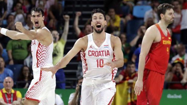 Jugadores croatas.