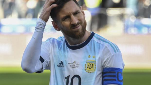 Lionel Messi durante la Copa América de Brasil.