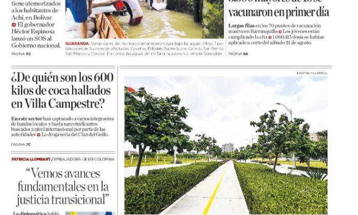 Alerta en la Mojana por desbordamiento de ríos