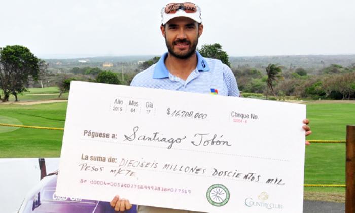 Tobón, campeón del Abierto 'Ciudad de Barranquilla'