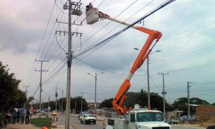 Electricaribe continúa reparando daños ocasionados por vendaval