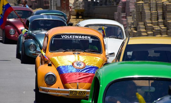 Caravana al norte de Barranquilla por el Día de la Independencia