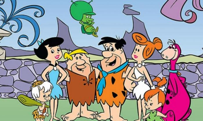 Bam Bam, Betty, Pablo, Pedro, Vilma, Pebbles y Dino.