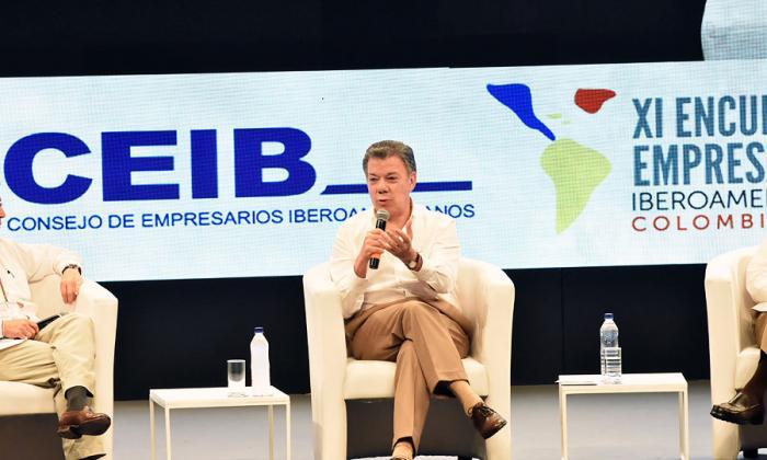 Comunidad Iberoamericana apoya esfuerzos de Santos por la paz
