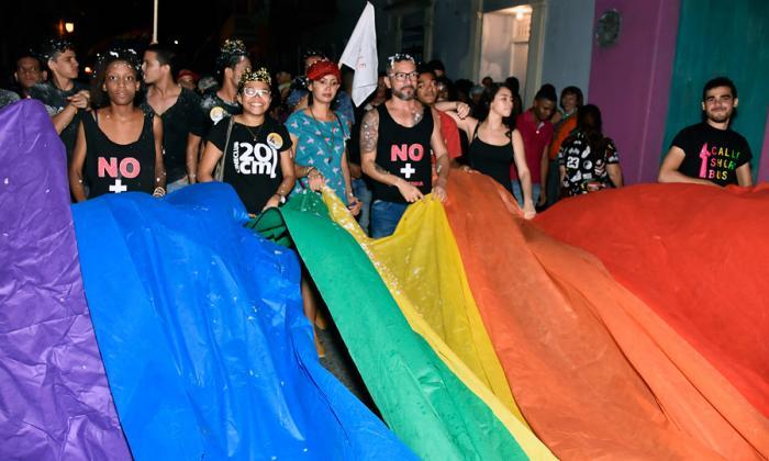 Comunidad LGTBI participó de las Fiestas de Independencia.