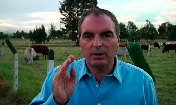 El ministro de Agricultura Aurelio Iragorri.