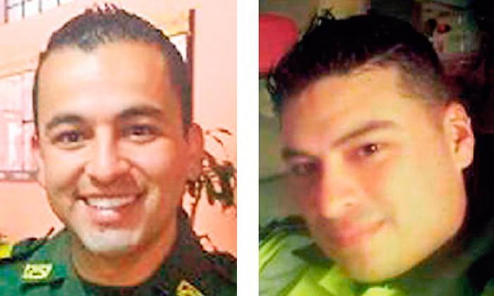 Los patrulleros Jorge Guerrero Arias y Luis Flechas Garzón, señalados cabecillas de la red.
