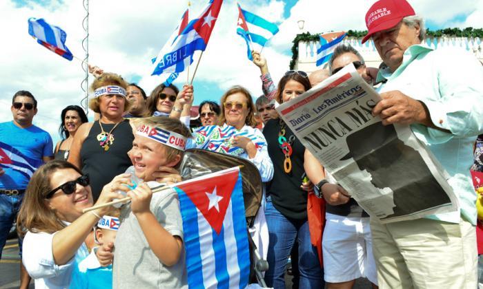 El corazón del exilio cubano sigue el festejo y alista concentración en Miami