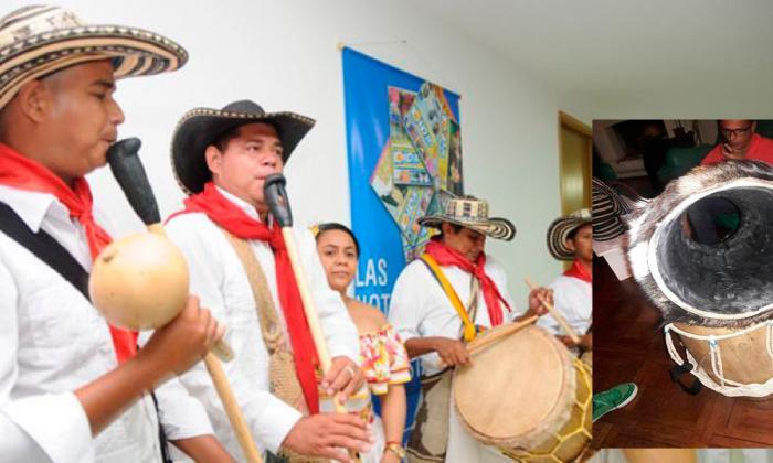 Destruyen instrumentos musicales de Los Gaiteros de San Jacinto en Chile