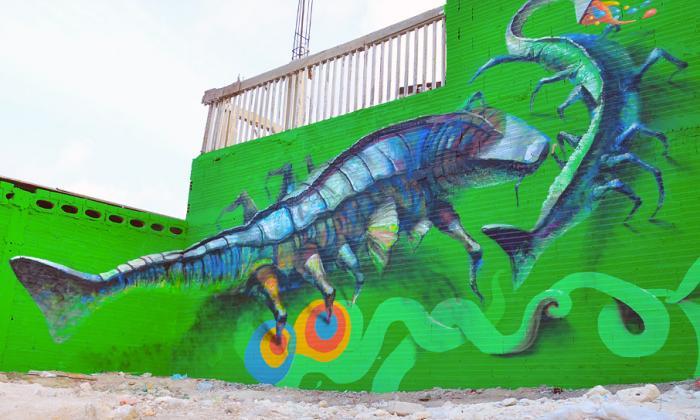 14 murales, el legado de Killart en Barrio Abajo