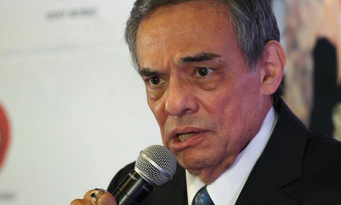 Fotografía del 11 de marzo de 2015 del cantante mexicano José José, durante una conferencia de prensa en Ciudad de México.