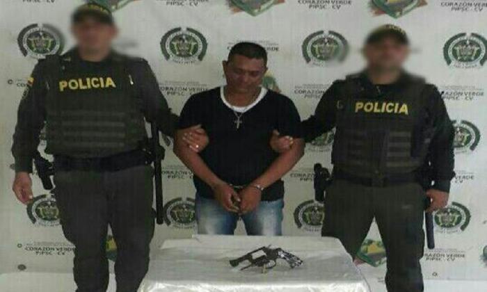 Alfonso Antonio Quintero Eljash, capturado en el barrio Manuela Beltrán.