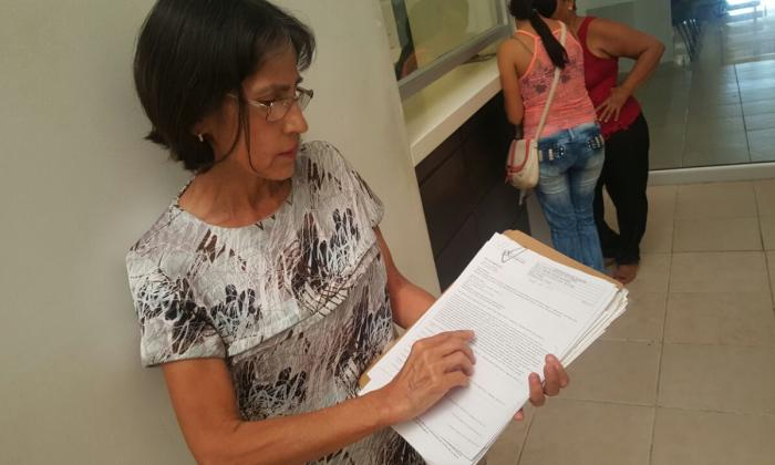 Paciente afectada por negligencia de Coomeva, Beatríz Molina Navarro.