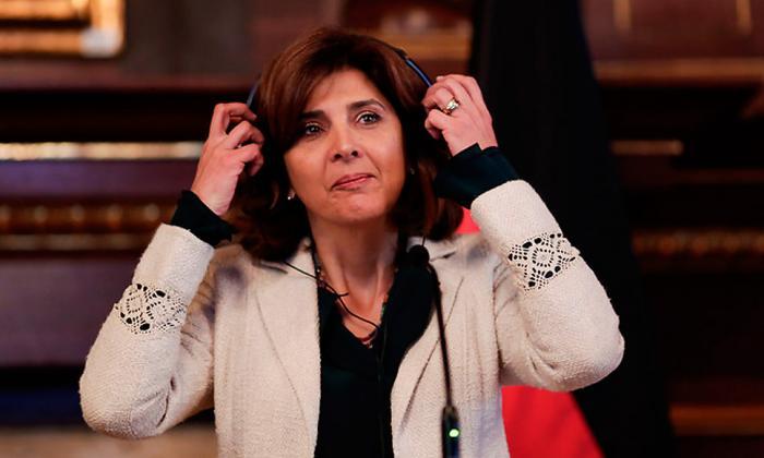 La canciller colombiana María Ángela Holguín.