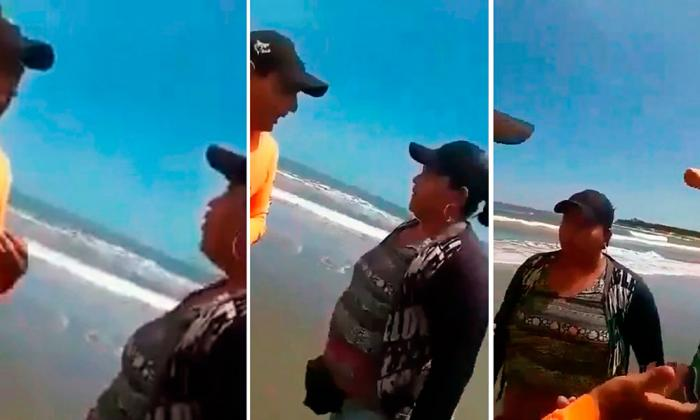 En video | Caseteros agreden a salvavidas por aplicar restricción de playas