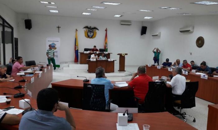 Concejales durante sesión del pasado sábado.