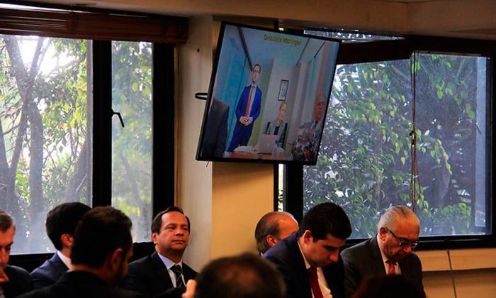 Aspectos de la audiencia celebrada en Bogotá el 25 de julio, por imputación de cargos a los empresario involucrados en el escándalo de Reficar.