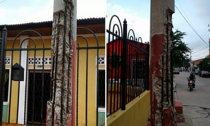 Deterioro de poste preocupa a habitantes de San Isidro