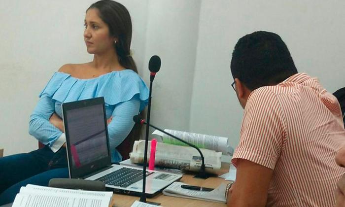 Yerlin del Carmen Galindo Durán, durante una audiencia en Sincelejo.
