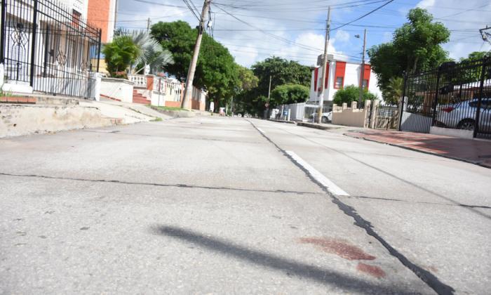 Calle 79 con carrera 63, lugar donde fue asesinado Angello Alzamora Córdoba.