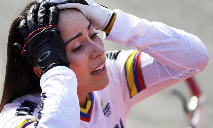 Mariana Pajón, ciclista colombiana.