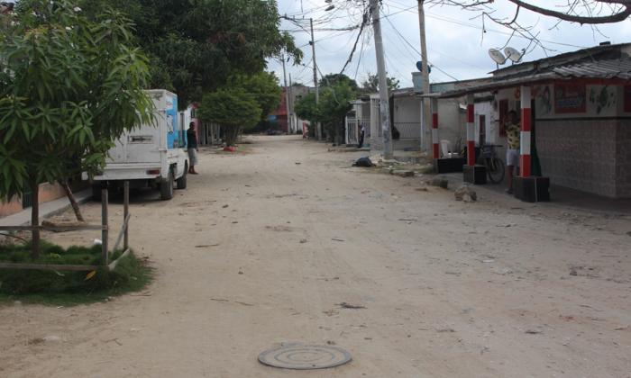 Lugar de los hechos en el barrio Ferrocarril, de Soledad.