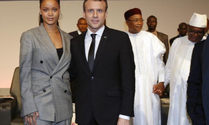 Macron y Rihanna lideran conferencia para financiar la educación
