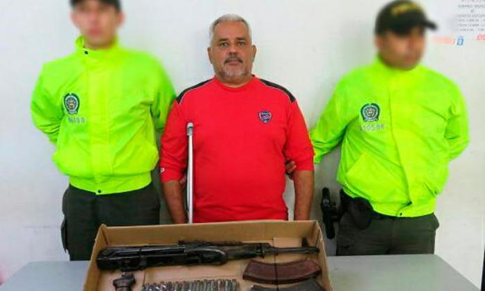 """""""Capturado con fusil habría intercambiado llamadas con Cristian Bellón"""": Policía"""