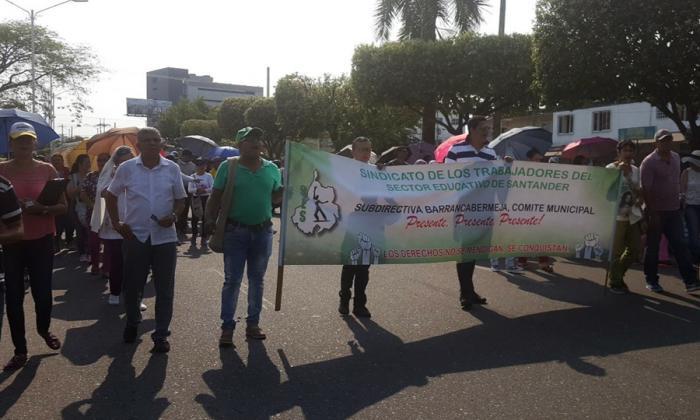 Aspecto de la protesta en Santander