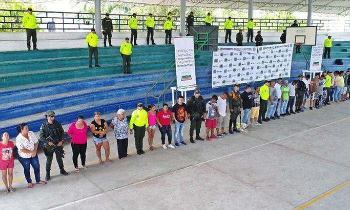 Caen en Antioquia 37 presuntos miembros de la red de narcotráfico 'los Porteños'