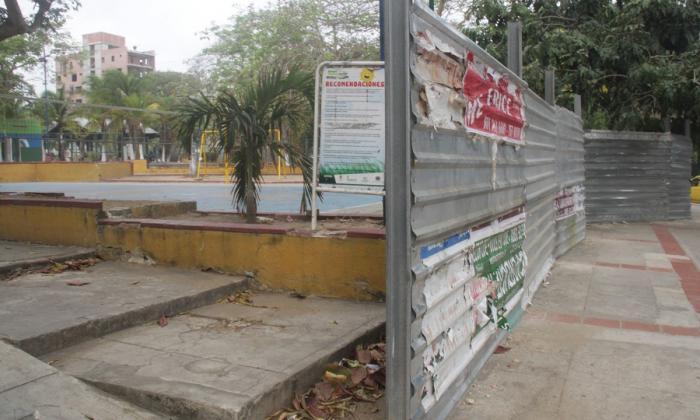 Cerramiento del Parque Venezuela.