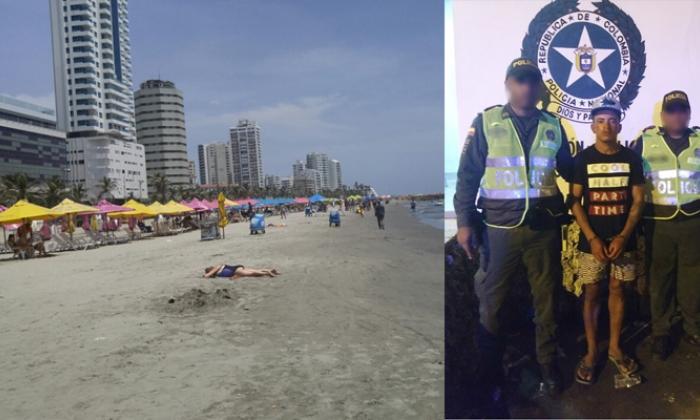 Capturan en flagrancia a presunto agresor de dos turistas en Bocagrande