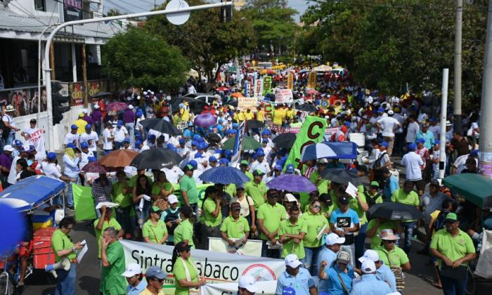 Así fueron las marchas de trabajadores en la Región Caribe