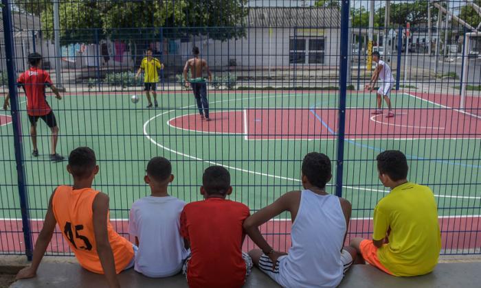 El plan recreativo de estudiantes en primer día de paro